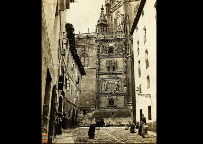 Vista de la catedral de Burgos desde las Llanas